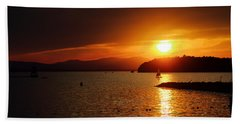 Sunset Over Lake Champlain Hand Towel