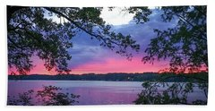 Sunset Over Lake Cherokee Bath Towel