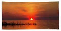 Sunset Over Lake Michigan Bath Towel