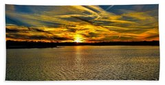 Sunset Over Lake Palestine Hand Towel