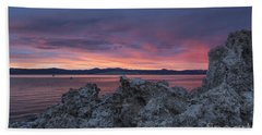 Hand Towel featuring the photograph Sunset Over Mono Lake by Sandra Bronstein