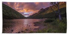 Sunset Over Profile Lake Hand Towel