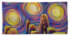 Sunset Over Raleigh Hand Towel