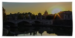 Sunset Over St Peters Hand Towel