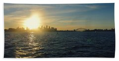 Sunset Over Sydney Harbour Hand Towel