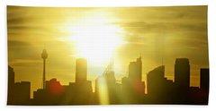 Sunset Over Sydney Hand Towel