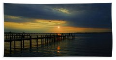 Sunset Over The Bay Hand Towel