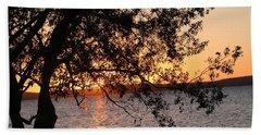 Sunset Over The Caribbean In Cienfuegos, Cuba Bath Towel