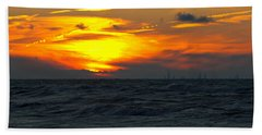 Sunset Over The City Bath Towel