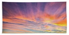 Sunset Over The Dunes Hand Towel by Vivian Krug Cotton