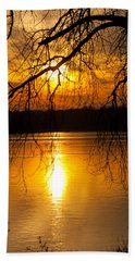 Sunset Over The Lake Bath Towel