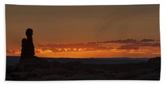 Sunset Over The Petrified Dunes Bath Towel