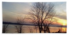 Sunset Over The Potomac Bath Towel