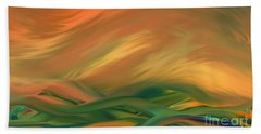 Sunset Over The Sea Of Worries Bath Towel by Giada Rossi