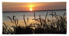 Sunset Over The Sound  Hand Towel by Joyce Wasser
