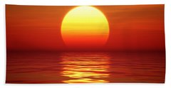 Sunset Over Tranqual Water Hand Towel