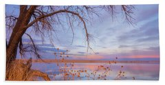 Hand Towel featuring the photograph Sunset Overhang by Darren White