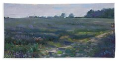 Sunset Over The Field Hand Towel