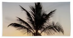 Hand Towel featuring the photograph Sunset Palm by Az Jackson