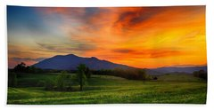 Sunset Pasture Hand Towel