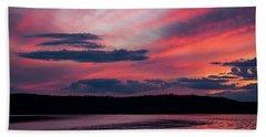 Sunset Red Lake Bath Towel