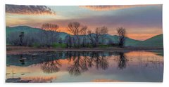 Sunset Reflection Hand Towel by Marc Crumpler