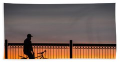 Sunset Reflection Hand Towel by Mike Ste Marie