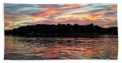 Bath Towel featuring the photograph Sunset Reflections by Nikki McInnes