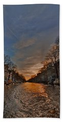 Sunset Ripples Bath Towel