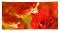 Sunset Rose Hand Towel by Gabriella Weninger - David