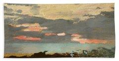 Sunset, Saco Bay Bath Towel