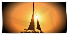 Sunset Sail Hand Towel by Gary Smith