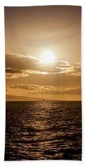 Sunset Sailboat Hand Towel