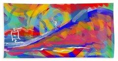 Sunset Sailboat Hand Towel by Jason Nicholas