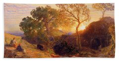 Sunset Hand Towel by Samuel Palmer