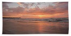 Sunset Scripps Beach Pier Img 5 La Jolla San Diego Ca Hand Towel