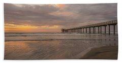 Sunset Scripps Beach Pier La Jolla San Diego Ca Image 4  Hand Towel