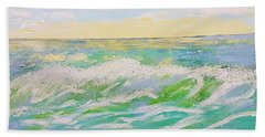 Bath Towel featuring the painting Sunset Seascape 6 by Judi Goodwin