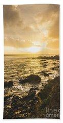 Sunset Seascape Hand Towel