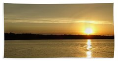 Sunset Shelbyville Il Bath Towel