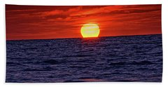 Sunset Siesta Key Florida Hand Towel