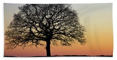 Hand Towel featuring the photograph Sunset Silhouette by Clare Bambers