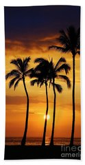 Sunset Silhouette Hand Towel by Craig Wood