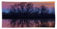 Sunset Silhouettes Hand Towel