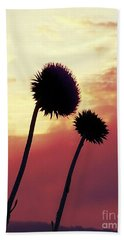 Hand Towel featuring the photograph Sunset Silhouettes by Maria Urso