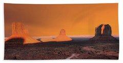 Sunset Skies Monument Valley Arizona Hand Towel