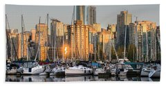 Sunset Skyline Bath Towel
