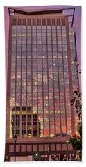 Sunset Skyscraper Hand Towel