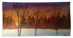 Sunset Snow Bath Towel