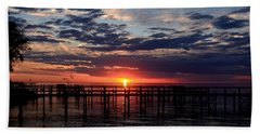 Sunset - South Carolina Hand Towel